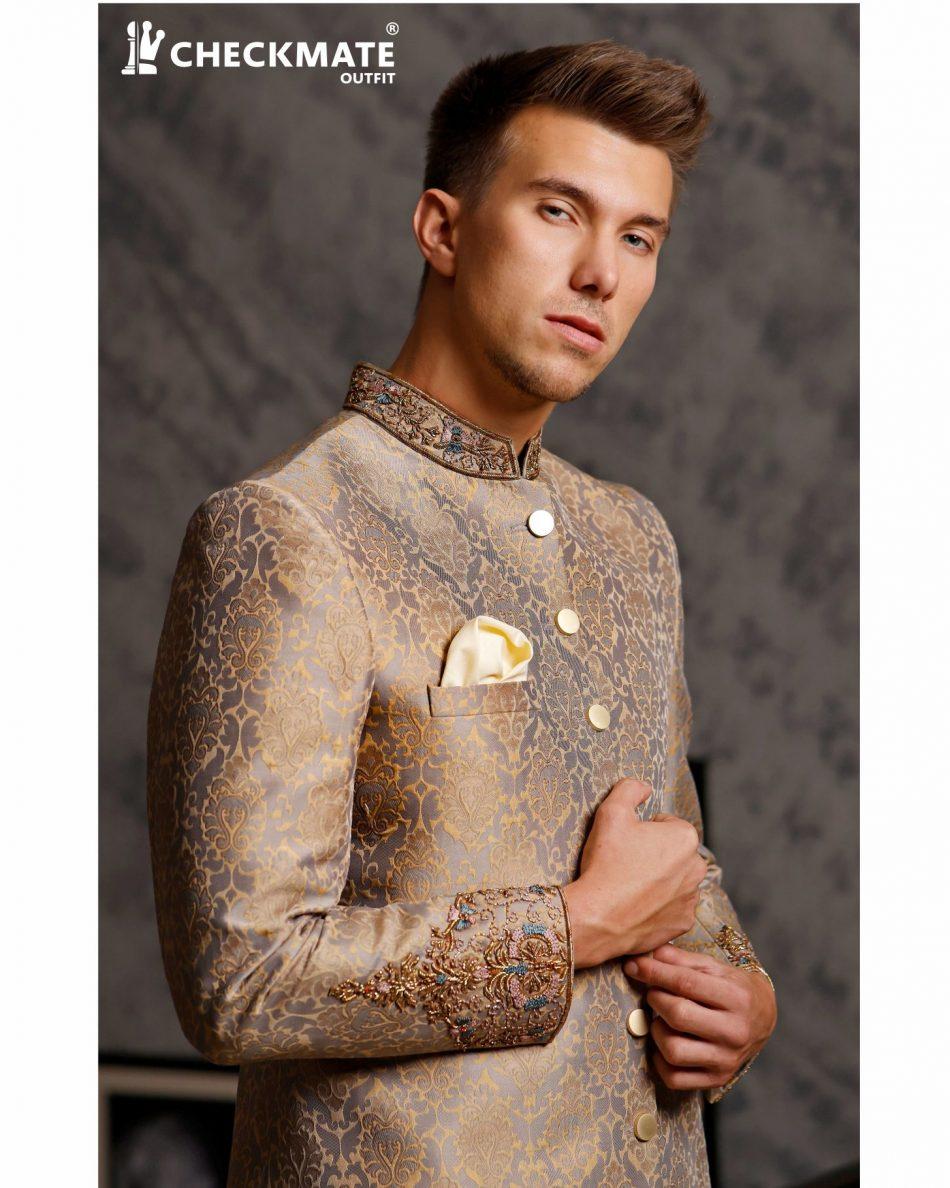 Ethnic wear Royal Look & Stylish Men's Sherwani for Wedding