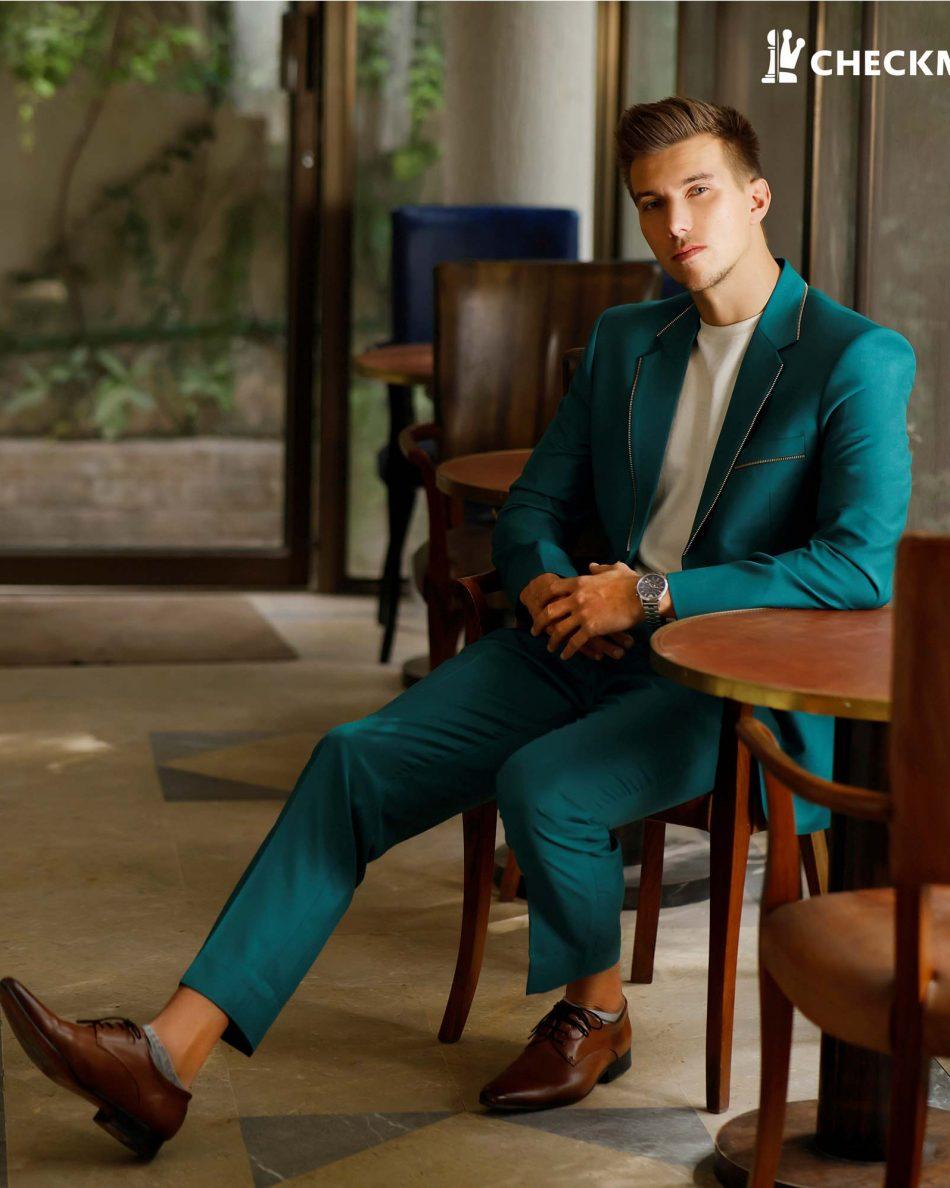 Pant Coat 2pc in Green