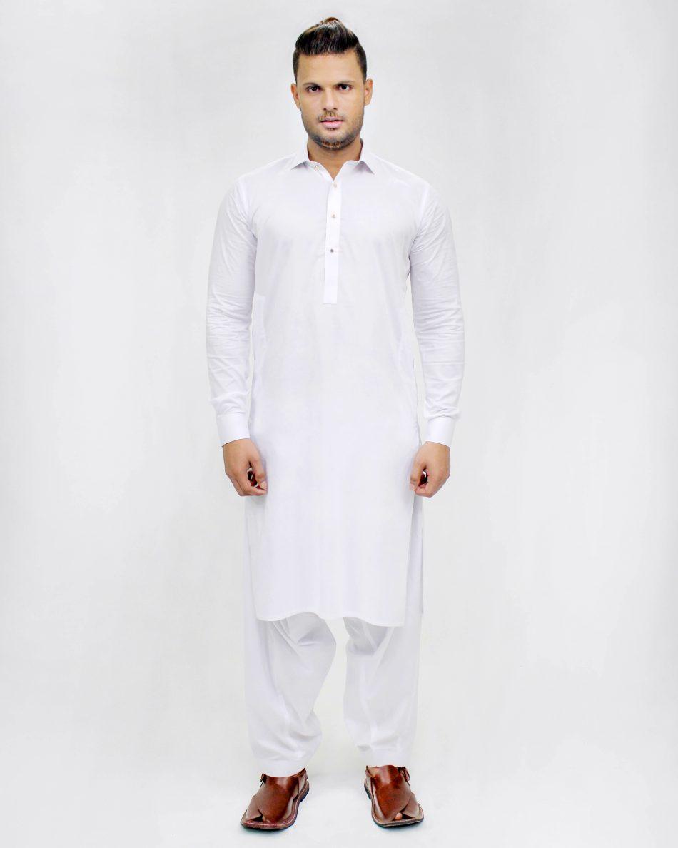 Kameez Shalwar SSP0015-WHT